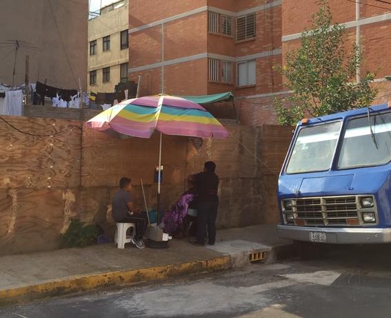 trabajar en la calle tras el sismo 1