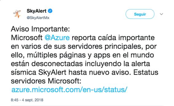 microsoft azure reporta caida de sus servidores 2