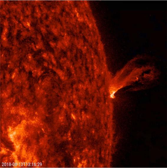 nasa muestra video de erupcion solar 1
