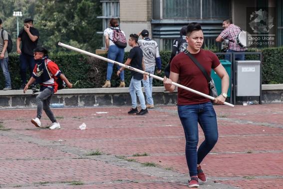 fotografias del enfrentamiento de ciudad universitaria 4