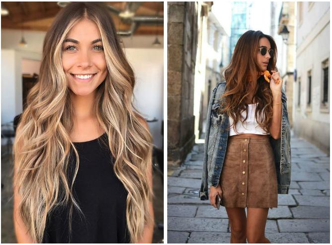 Cortes de pelo largo en muchas capas