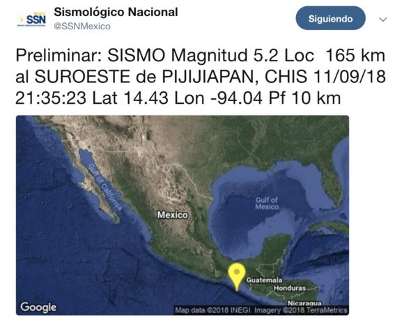 sismo 5 grados richter en chiapas 2