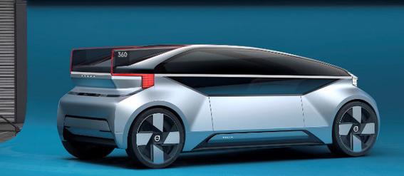 volvo 360c coche electrico del futuro que se hara cama 1
