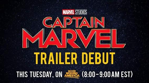 marvel revela fecha primer trailer capitana marvel 2