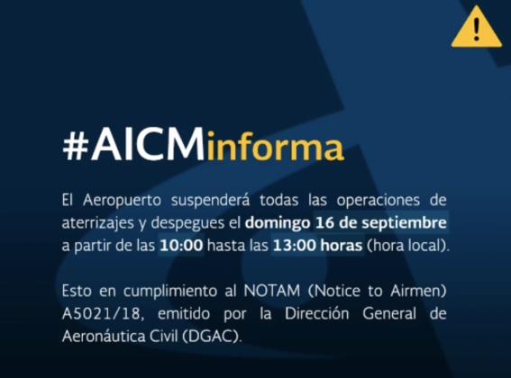 aeropuerto suspende operaciones por desfile 1