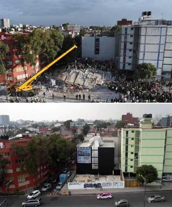 imagenes que muestran antes y despues del sismo en cdmx 1