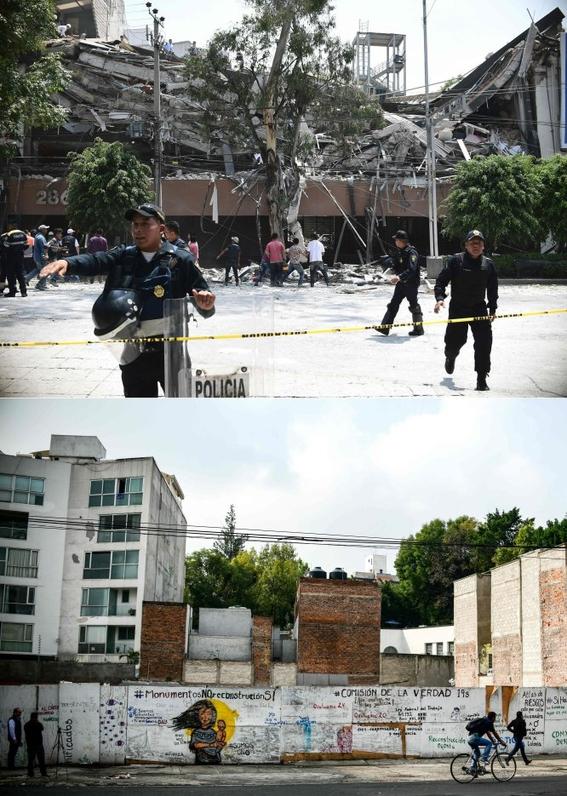 imagenes que muestran antes y despues del sismo en cdmx 4