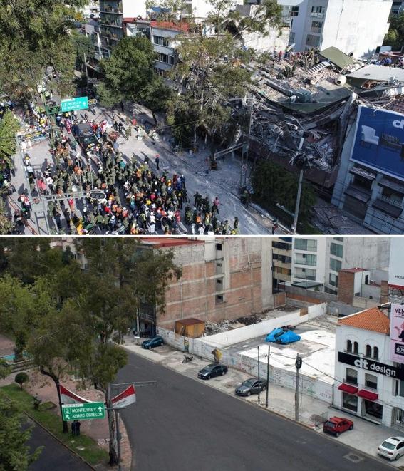 imagenes que muestran antes y despues del sismo en cdmx 5
