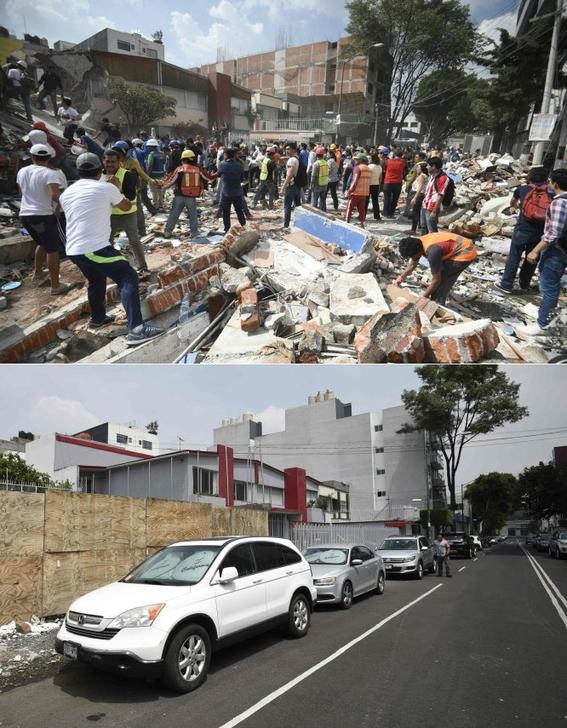 imagenes que muestran antes y despues del sismo en cdmx 6
