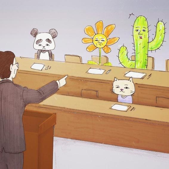 ilustraciones absurdas de keigo 3