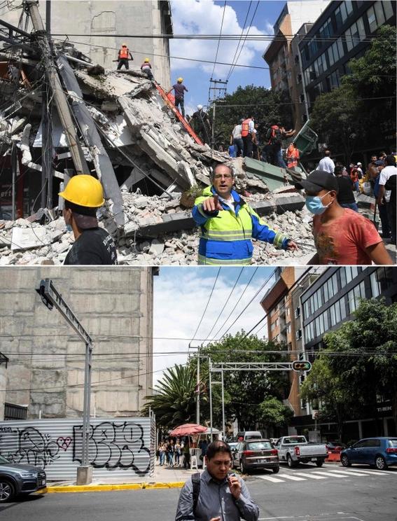 imagenes que muestran antes y despues del sismo en cdmx 7