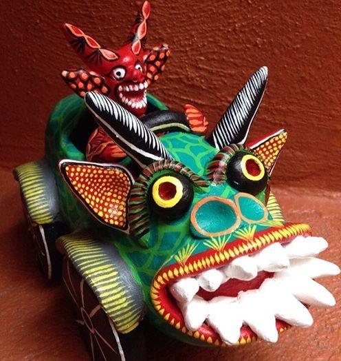 ocumicho devil figure mexican pottery 3