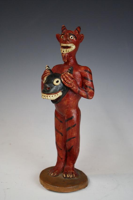 ocumicho devil figure mexican pottery 2