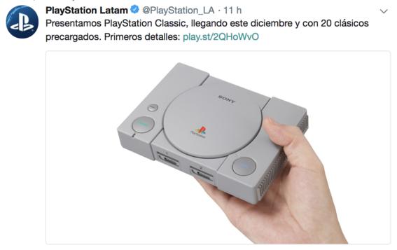 sony anuncia lanzamiento de reedicion playstation classic 1