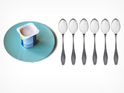 cuanta azucar tiene el yogurt 6