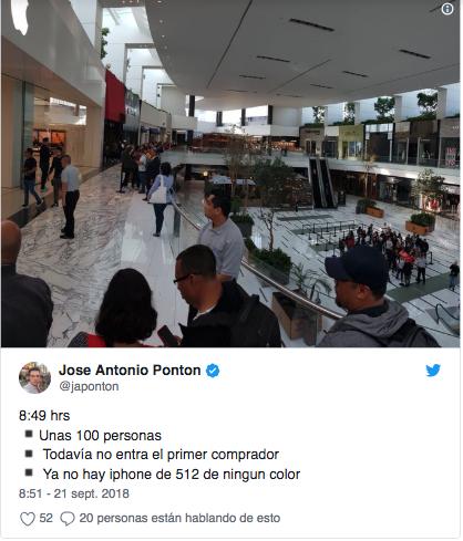 hacen filas enormes en mexico para comprar iphone xs 2