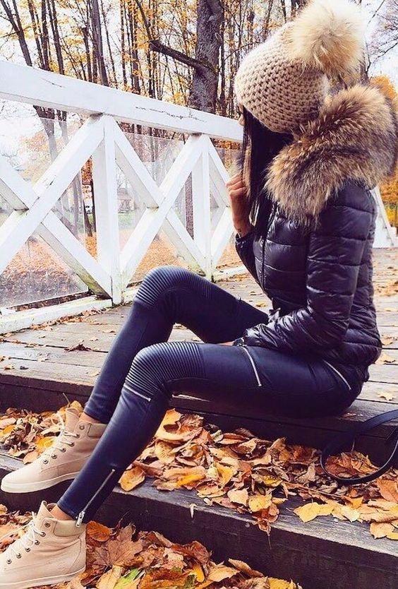 como usar leggins durante el invierno 10