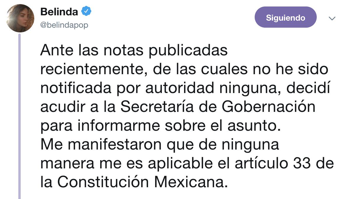 segob belinda no sera deportada de mexico 1