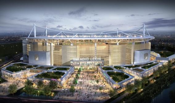 leon da a conocer las primeras imagenes de su nuevo estadio 1