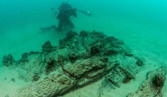 barco hundido encontrado en portugal lisboa 1