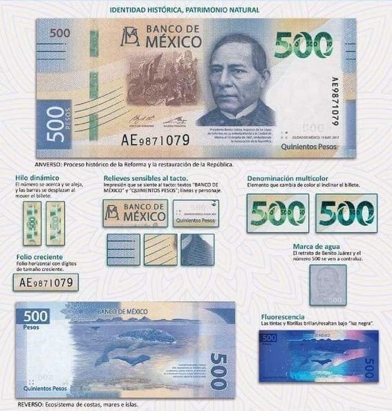 falsificaron los nuevos billetes de 500 pesos 1