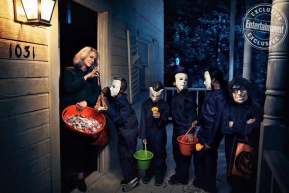 fotos graciosas pelicula halloween laurie strode michael myers 4