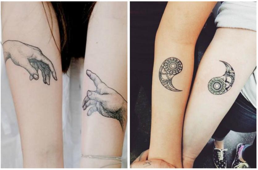 Tatuajes Para Parejas Que Se Complementan Diseño Diseño