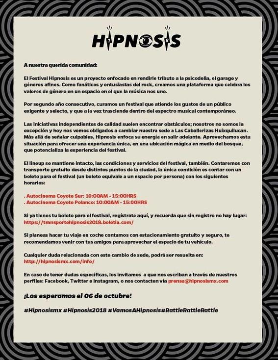 festival hipnosis anuncia cambio de sede 1