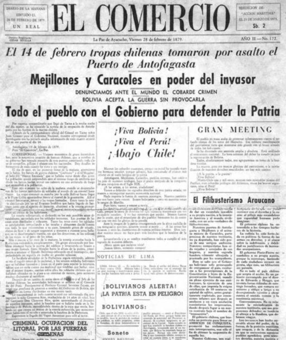guerra del pacifico chile bolivia acceso al mar 1