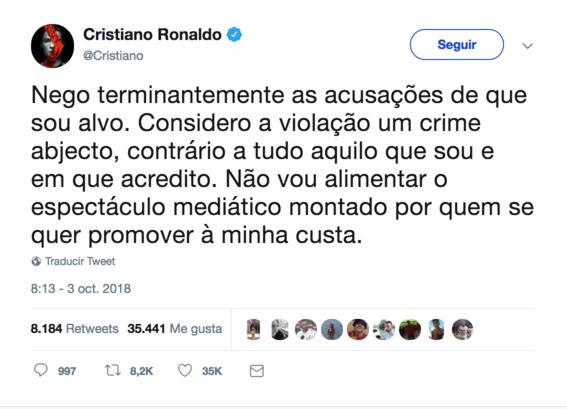 cristiano ronaldo rechaza demanda por violacion 1