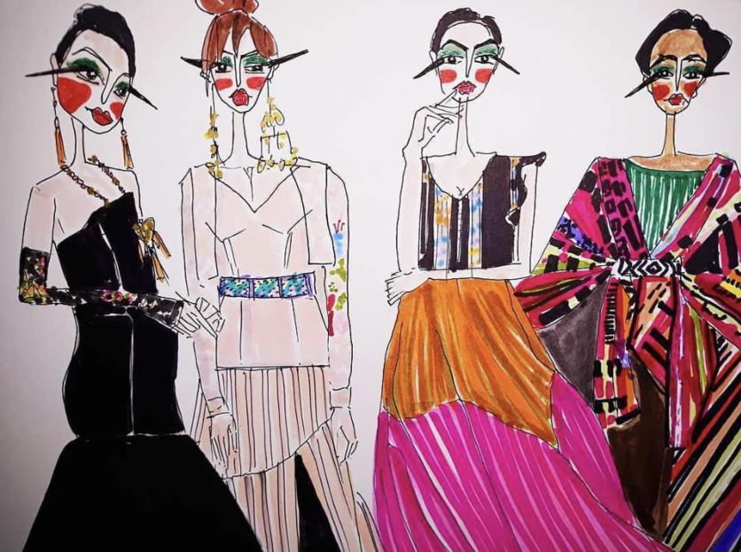 Draw Latin Fashion: Ilustraciones para entender la moda en México 1