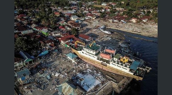 dron capto imagenes de indonesia tras terremoto y tsunami 1