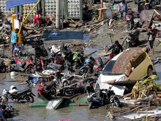 dron capto imagenes de indonesia tras terremoto y tsunami 2