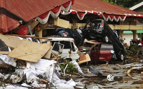dron capto imagenes de indonesia tras terremoto y tsunami 4