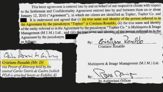 filtran contrato entre cristiano ronaldo y mayorga violacion 1