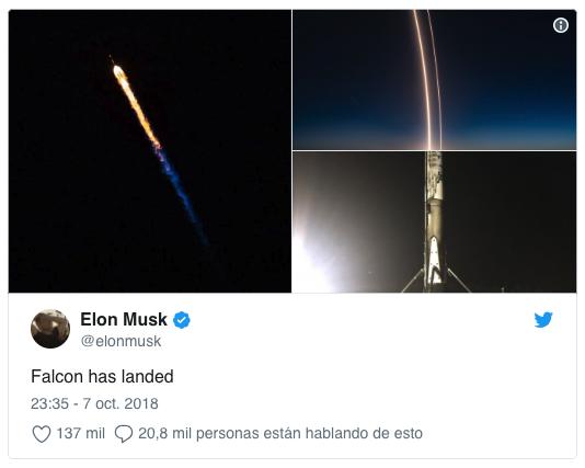 spacex lanza falcon 9 cohete de elon musk que ilumino el cielo 1