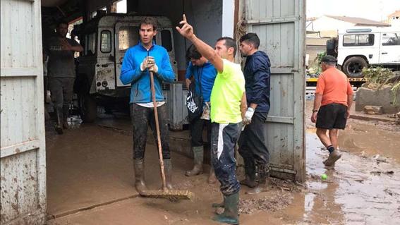 rafael nadal ayuda a las victimas de las inundaciones 1