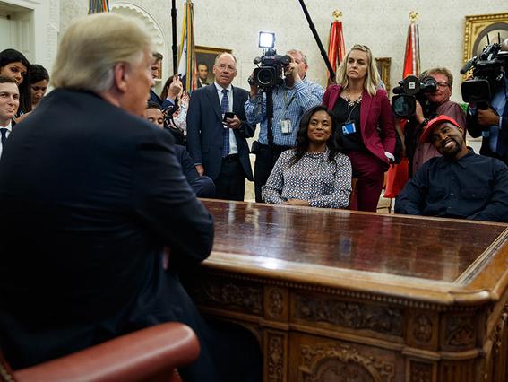 kanye west visita donald trump en la casa blanca 1