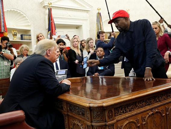kanye west visita donald trump en la casa blanca 2