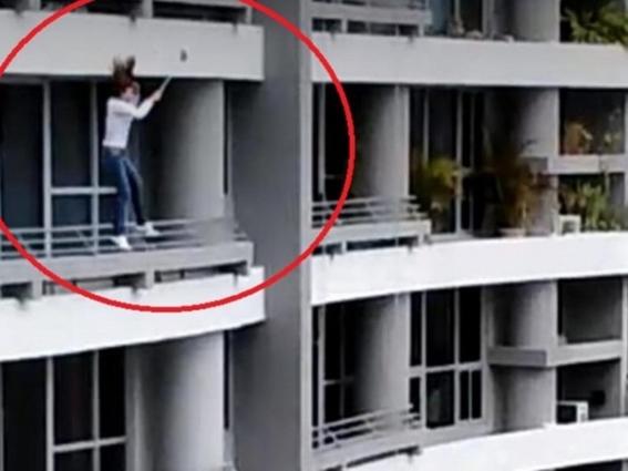 mujer cae desde piso 27 por tomarse una selfie en panama 1