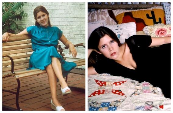 fotos de carrie fisher antes y despues de la princesa leia 4