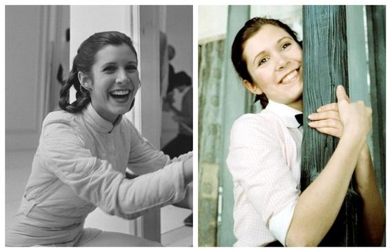 fotos de carrie fisher antes y despues de la princesa leia 12