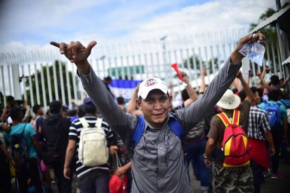 imagenes entrada miles de migrantes a mexico 1