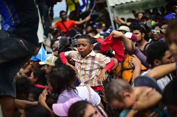 imagenes entrada miles de migrantes a mexico 2