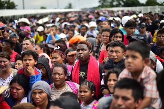 imagenes entrada miles de migrantes a mexico 5