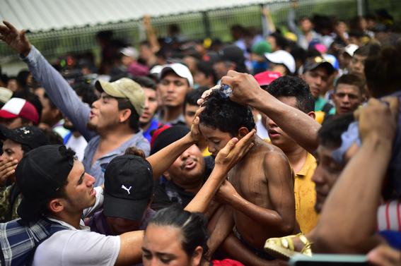 imagenes entrada miles de migrantes a mexico 6