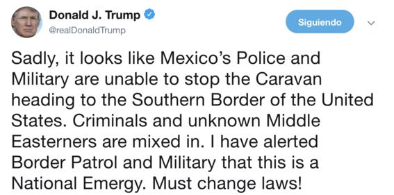 trump alerta militares defender la frontera de migrantes hondurenos 1