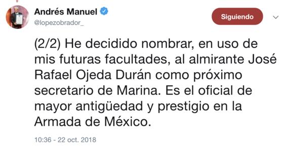 amlo elige rafael ojeda duran nuevo titular semar 2