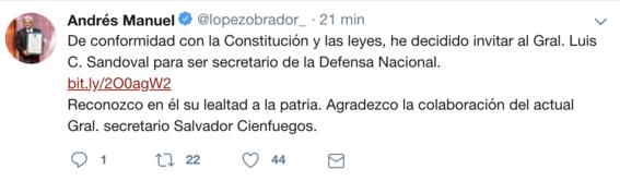 amlo elige luis cresencio sandoval nuevo titular sedena 1