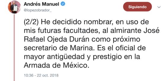 amlo elige luis cresencio sandoval nuevo titular sedena 2